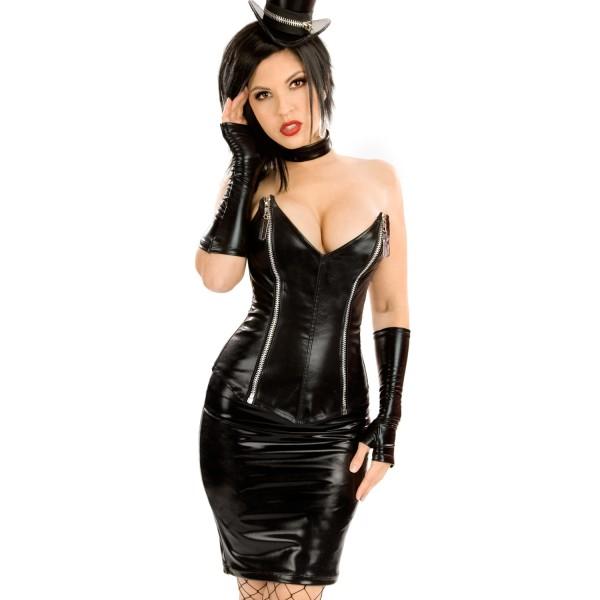 девушка с большой грудью снимающая кожаную юбку на фото