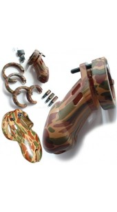 Locking Male Chastity Device CB6000 Camouflage Design.