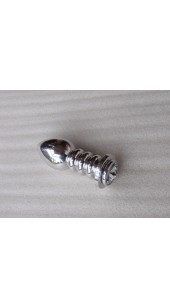 Large Ripple Stainless Steel Anal Plug.