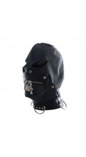 Pleather Hood with Lockable Two Zip Mouth.