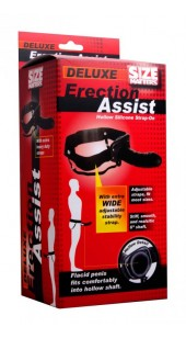 Erection Assist Hollow Strap-on - Black.