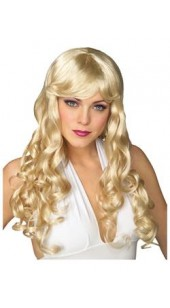 Sexy Blonde Glamour Wig .
