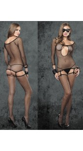 Three Pc Body Suit With Stockings