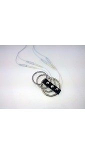 Four Steel Cock Ring Electro Sex Set.