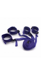 Under The Bed Wrist and Ankle Restraint Set In Three Colours .