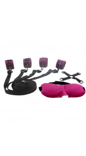 Under The Bed Wrist and Ankle Restraint Set With Blindfold..