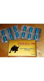 Super Bull 6000 - 12 Pills -  Herbal Male Enhancement Pill