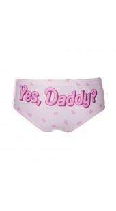 YES DADDY Womens Panties With Hearts in One Size.