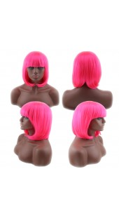 Similler Short Hot Pink Wig. (14 Inch)