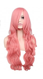 Desire Long Wavy Pink Wig (38 inches long)