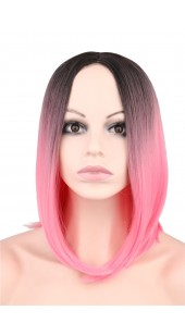 Desire Semi Short Pink Wig (16 inches long)