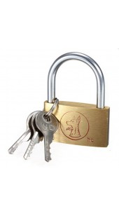 Brass 20mm Lock With Spare Keys.