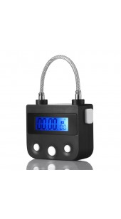 Rechargeable Electronic Timer Bondage Lock In Black or White.