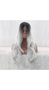 Similler Long Blond/Black Wig (28 Inch) With Two Free Wig Caps.