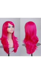 Similler Long Hot Pink Wig (28 Inch) With Two Free Wig Caps.