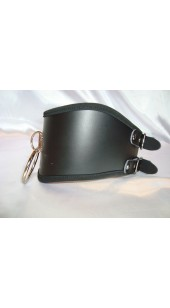 Black Posture collar With Two Adjustable Rear Buckles.