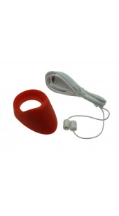 Silicone Rechargeable Vibrating Cock Ring with Taint Teaser.