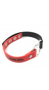 Heart Red and Black OWNED Collar.