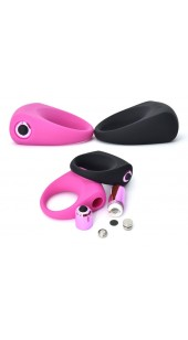 Silicone Vibrating Cock Ring in Black or Pink.