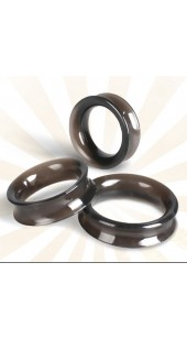 Black Triple Smooth Silicone Cock Ring Set.