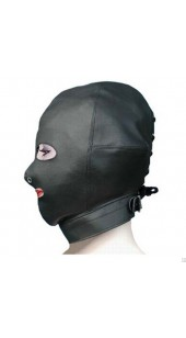 Leather Hood With Open Eyes and Mouth.
