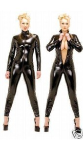 Metallic Black Zentai Bodysuit.