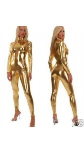 On Sale Metallic Gold Zentai Bodysuit.