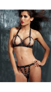 Faux Leather Two Pc Adjustable Buckle Set.