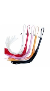 Leather Strip Whip In Three Colour's.