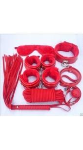 Ten Pc Bondage Set In Red