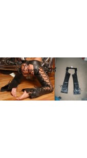 Black Pleather Lace Up Chap's in Size's Medium to Extra Large.