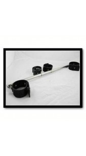Spreader Bar With Adjustable Wrist and Ankle Restrain's With Brass Locks.