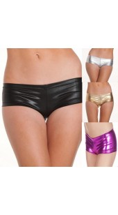 Shiny Stretch Hot Pant's in Colour's Black, Gold, Silver and Pink in Sizes Medium and XL.