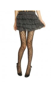 Black Fashionable Patterned Pantyhose.
