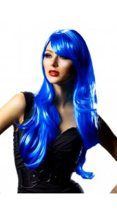 Blue Medium Full Length Wig.