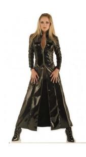 Black PVC Dress with front zip