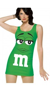 Green M&M Costume.