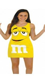 Yellow M&M Costume.